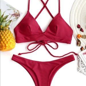 Red Bikini Top and Bottom